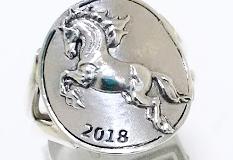 argent motif cheval
