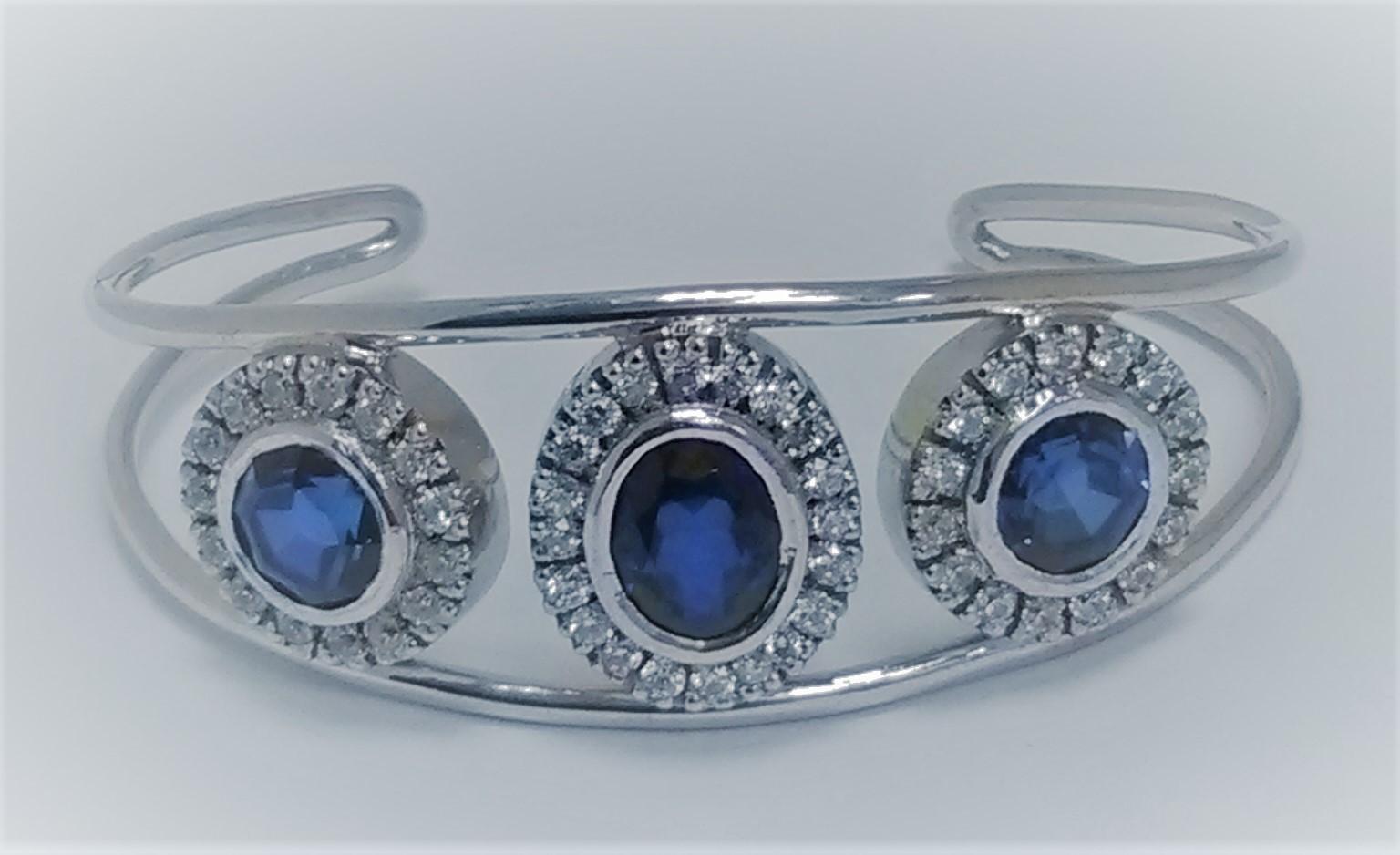 bracelet saphir et diamants