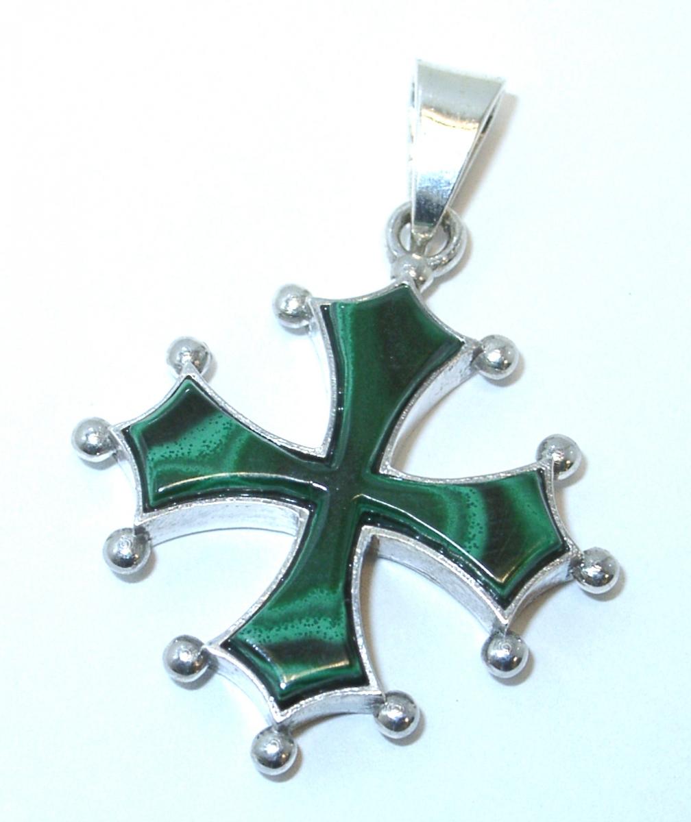 croix du Languedoc malachite