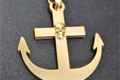 pendentif ancre marine tête de mort